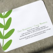 Modern Leaves Wedding Invitation