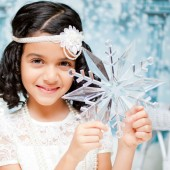Alina Collection. Flower girls ivory halo