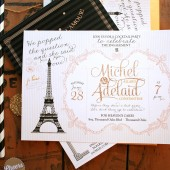 Glam Paris Bridal Shower Invitations or French Engagement Party Invites