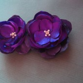 Purple hues shoe clips