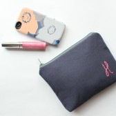 Monogram Bridesmaid Clutch Cosmetic Bag
