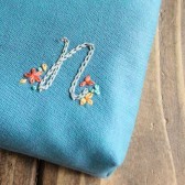 Monogram Cosmetic Bag with Flowers