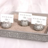 Silver Sea Urchin Place Card/Escort Card Holders