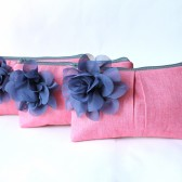 Clutch Purse, Pink and Navy