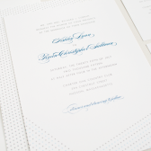 Dotted Modern Wedding Invitation
