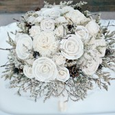 Winter Sola Flower Wedding Bouquet