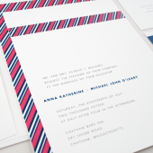 Grosgrain Modern Wedding Invitation