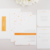 Confetti Modern Wedding Invitation