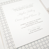 Entwined Modern Wedding Invitation