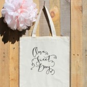 One Sweet Day or Love is Sweet Theme Wedding Tote Bag