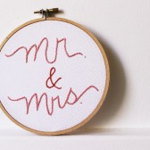 mr. and mrs. table decor hoop