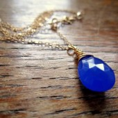 Something Blue Gold Necklace