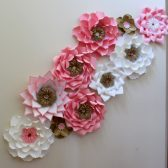 Paper flower backdrop, blush paper flowers, blush wedding, blush flowers, paper flowers, wedding backdrop, Mexican wedding