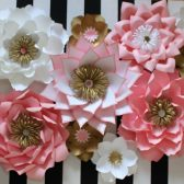 Paper flower backdrop, pink and white wedding,pink and white paperf lowers, blush flowers, paper flowers, wedding backdrop, Mexican wedding