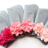 Bridesmaid Clutch Set, Coral and Gray