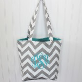 Monogrammed Chevron Bridesmaid Tote Bag