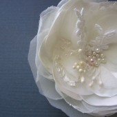 Vintage Rose Bridal Hair clip Corsage Pin
