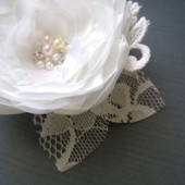 Pure White Bridal Hair clip
