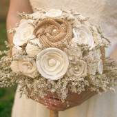 Rustic Cream Ivory Bride's Alternative Wedding Bouquet