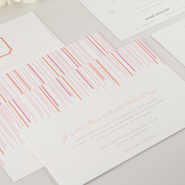 Swanky Stripe Wedding Invitation