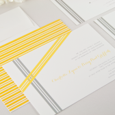Asymmetrical Ribbons Wedding Invitation