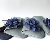 Navy and Gray Clutch Set