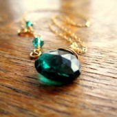 Emerald Gold Necklace