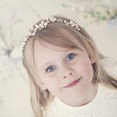 Image of Flower girl pearl tiara with gold colour wire and freshwater pearls Image of Flower girl pearl tiara with gold colour wire and freshwater pearls Image of Flower girl pearl tiara with gold colour wire and freshwater pearls Flower girl pearl tiara with gold colour wire and freshwater pearls