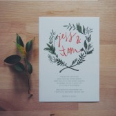 the seattle // bohemian floral leaf wreath invitation