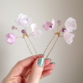 Raspberry Blush Blossom Pins