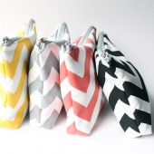 Chevron Cosmetic Bags