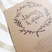 kraft wreath wedding invitation // the seattle