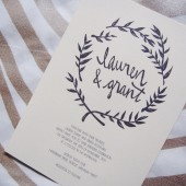 ivory black wreath invitation // the seattle