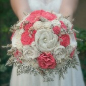 Bright Coral Custom Bride's Bouquet