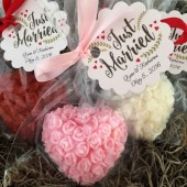 Floral Heart Soap Wedding/Bridal Favor