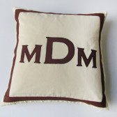 three letter monogram pillow