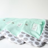 Clutch, Mint and Grey