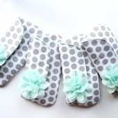 Gray and Mint Clutches