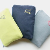 Monogram Cosmetic Bags, Navy, Green, and Gray