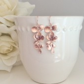 Rose Gold Earrings, Bridesmaid Earrings, Bridesmaid Gifts
