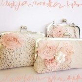 Bridal Clutch Blushing Pink