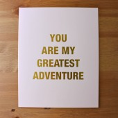 Blush Gold Foil Greatest Adventure Print