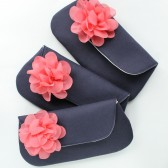 Bridesmaid Clutches, Navy and Coral