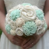 Pastel Mint Bride's Bouquet