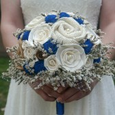 Royal Blue Rustic Bouquet