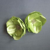 Apple green bridal hair clips
