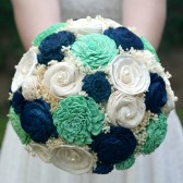 Jade Green and Navy Bouquet