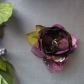 Purple Plum Hair pin