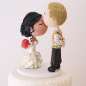 Hmong couple, kissing bride, hmong, cute kiss, custom topper, traditional outfit