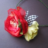 Strawberry and lemon rose Spring flowers headband